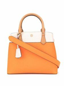 Tory Burch Robinson colour block tote bag - Orange