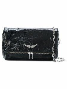 Zadig & Voltaire Rocky Creased shoulder bag - Black