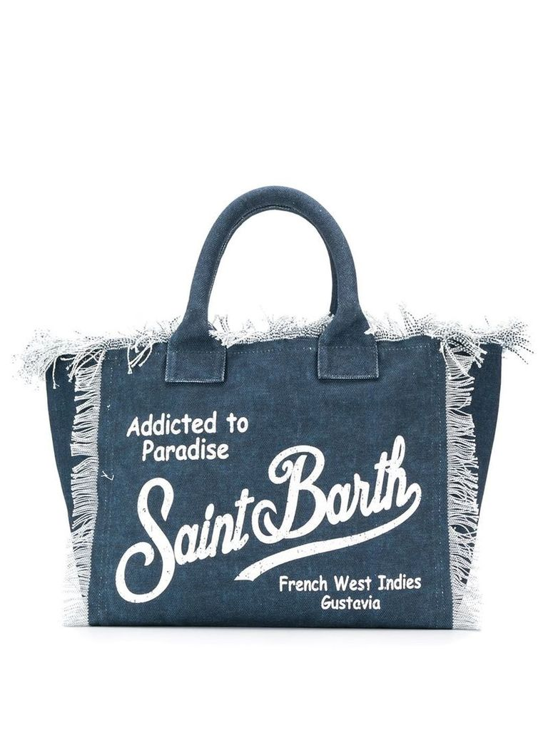 Mc2 Saint Barth Vanity beach bag - Blue