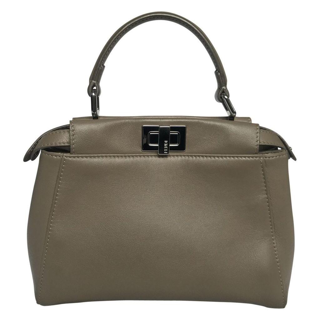 Peekaboo leather handbag