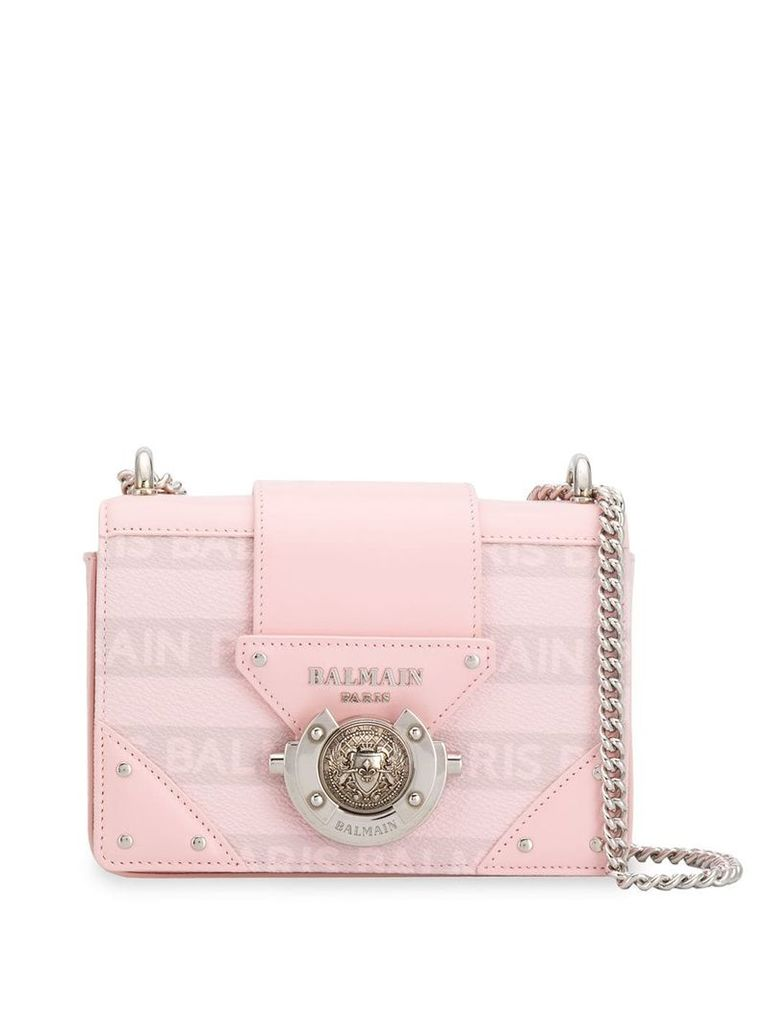 Balmain logo plaque crossbody bag - Pink