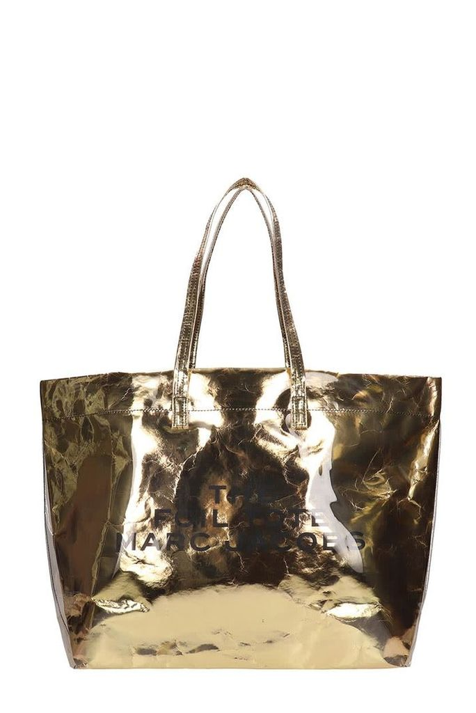 Marc Jacobs The Foil Tote Gold Metal Leather Bag
