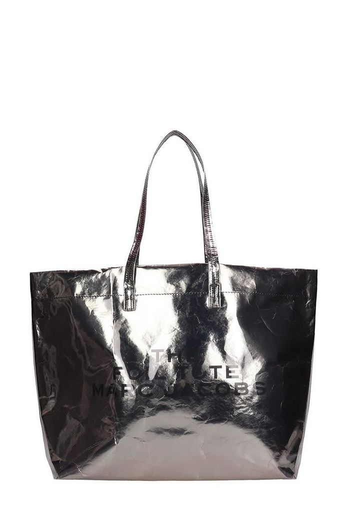 Marc Jacobs The Foil Tote Silver Metal Leather Bag