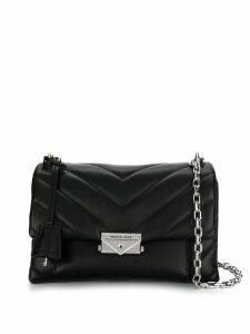Michael Michael Kors quilted logo shoulder bag - Black