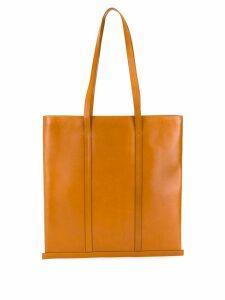 Building Block trimmed tote bag - Brown