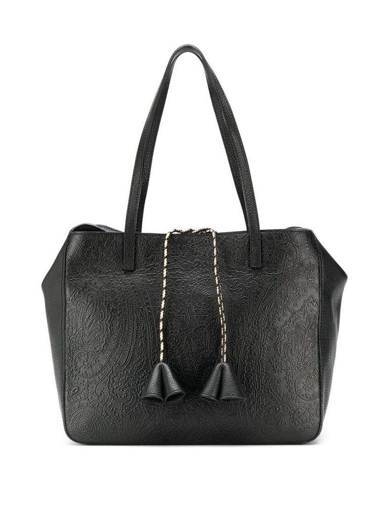 Etro tassel detail tote bag - Black