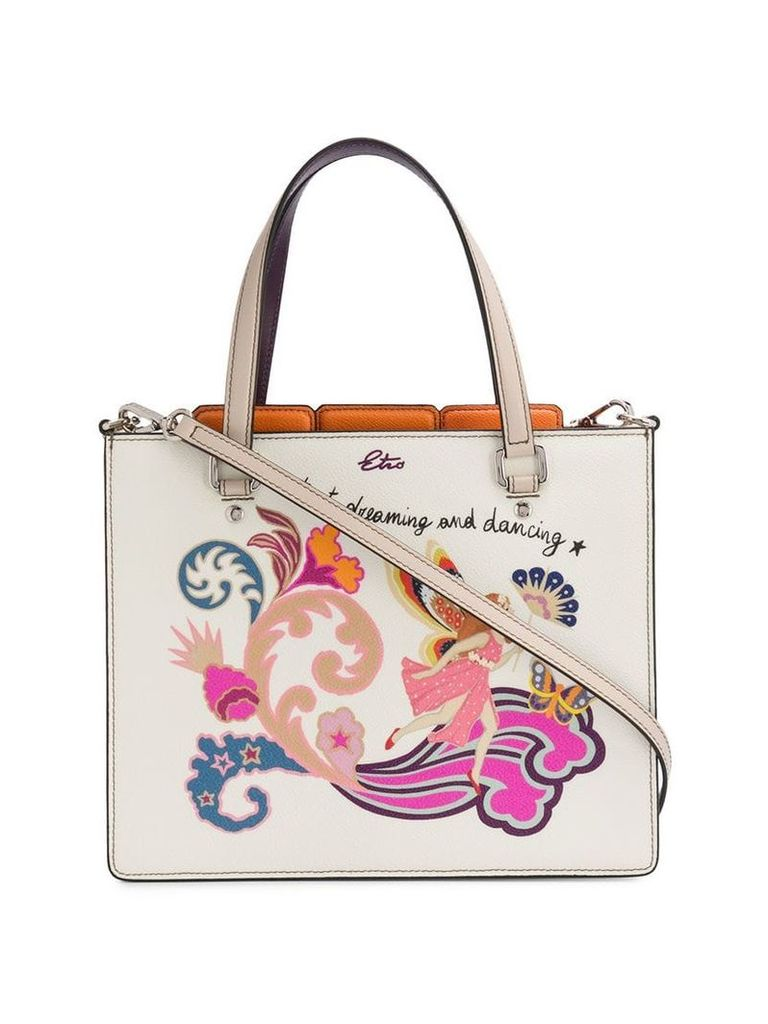 Etro fairy print tote bag - Neutrals
