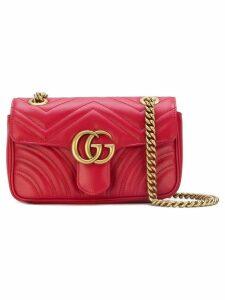 Gucci GG marmort matelassé shoulder bag - Red