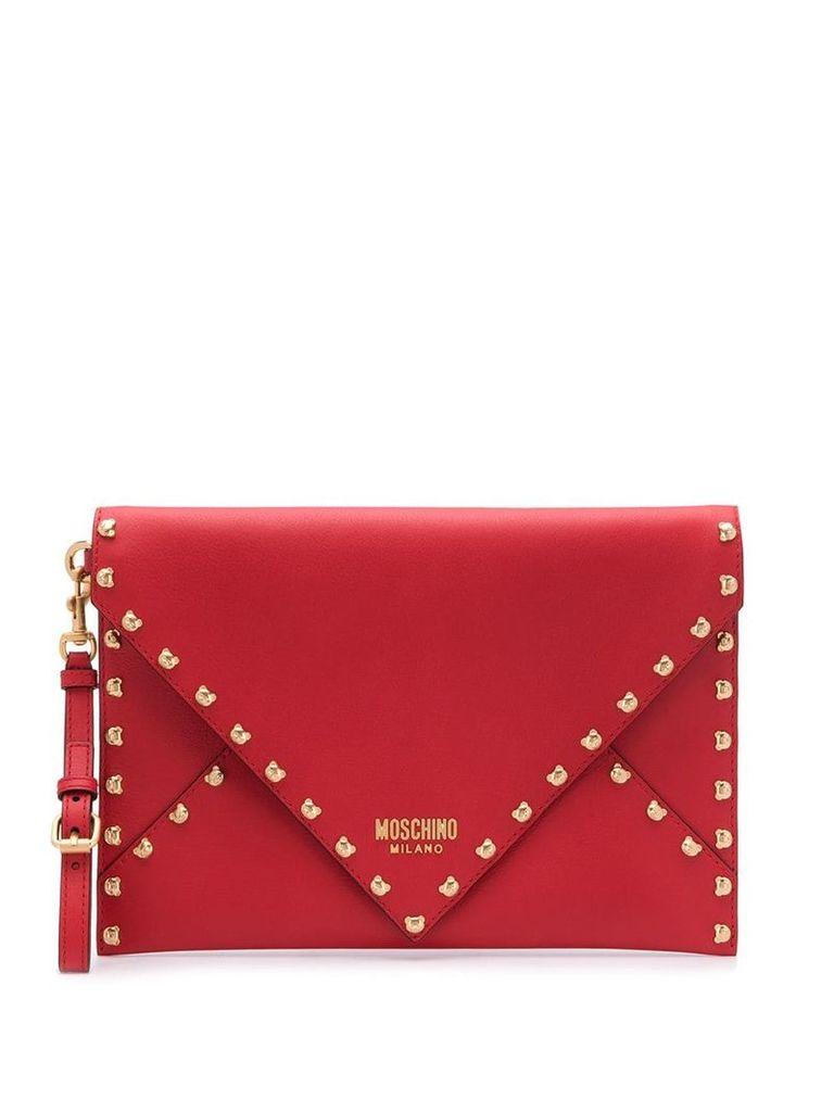 Moschino Teddy bear clutch bag - Red