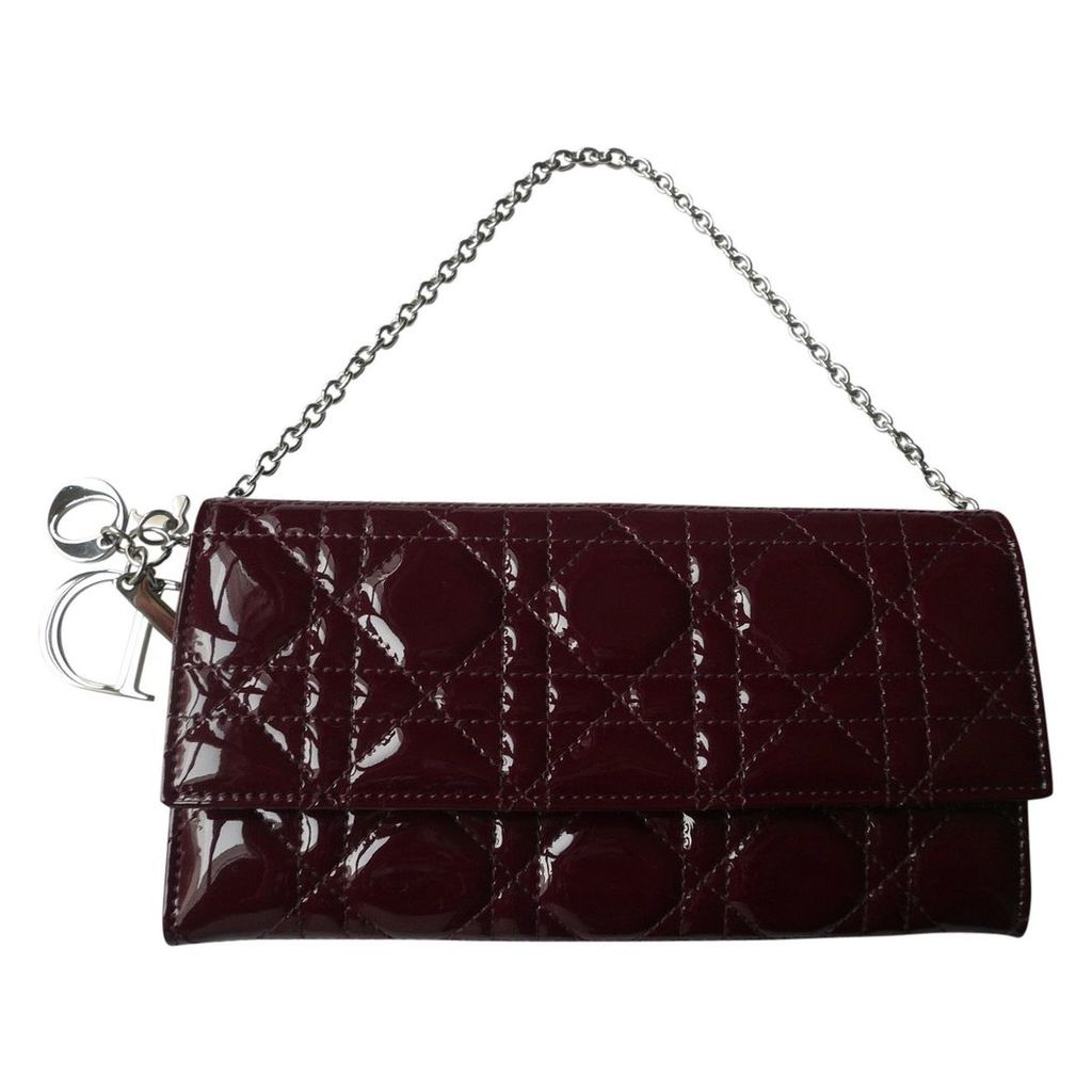 Lady Dior patent leather clutch bag
