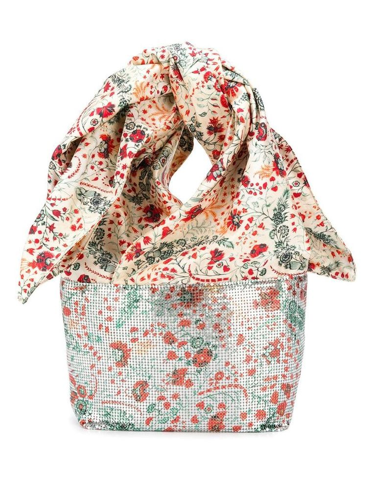 Paco Rabanne chain mail scarf tote - Grey
