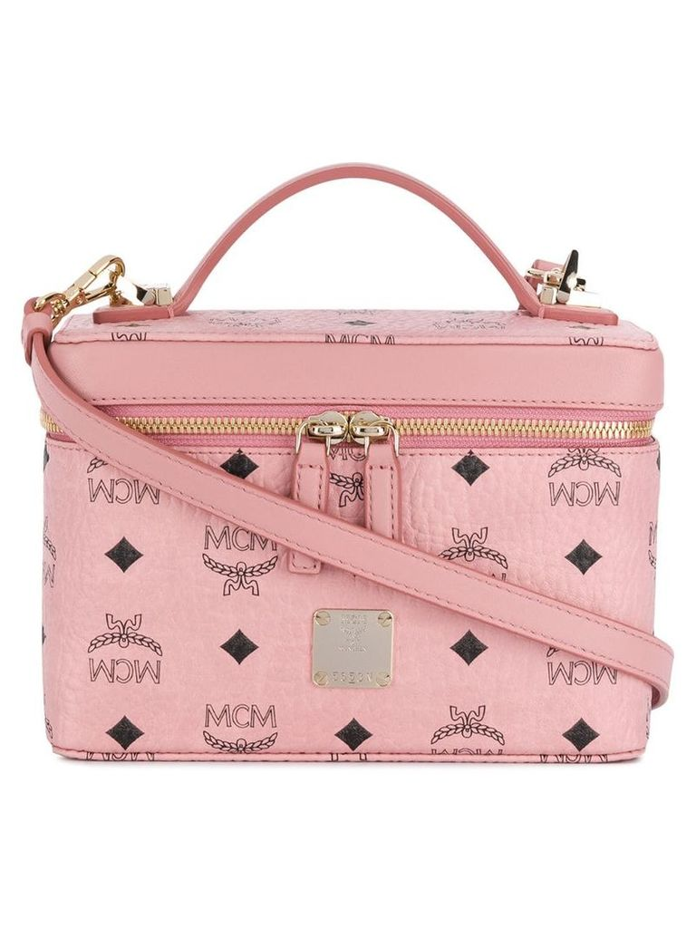 MCM Rockstar Vanity Case in Visetos Original - Pink