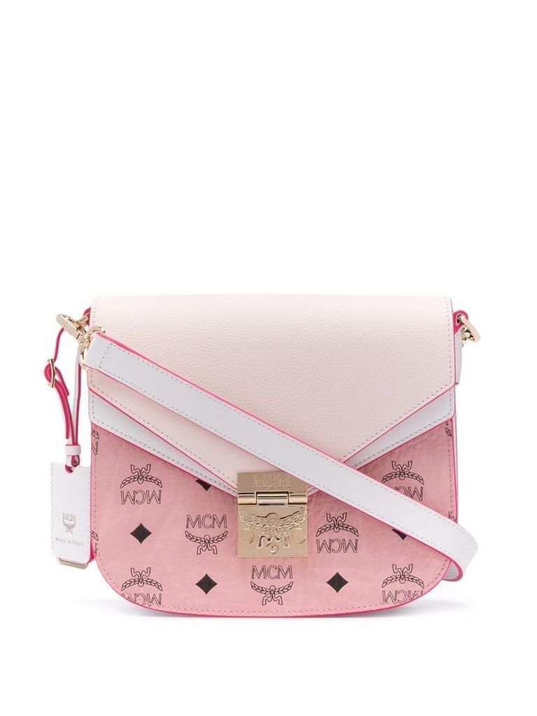 MCM Patricia Visetos shoulder bag - Pink