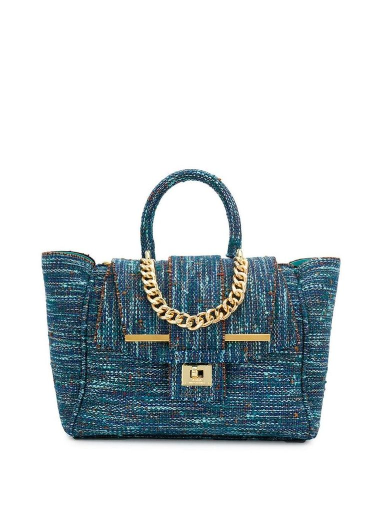 Alila tweed tote bag - Blue