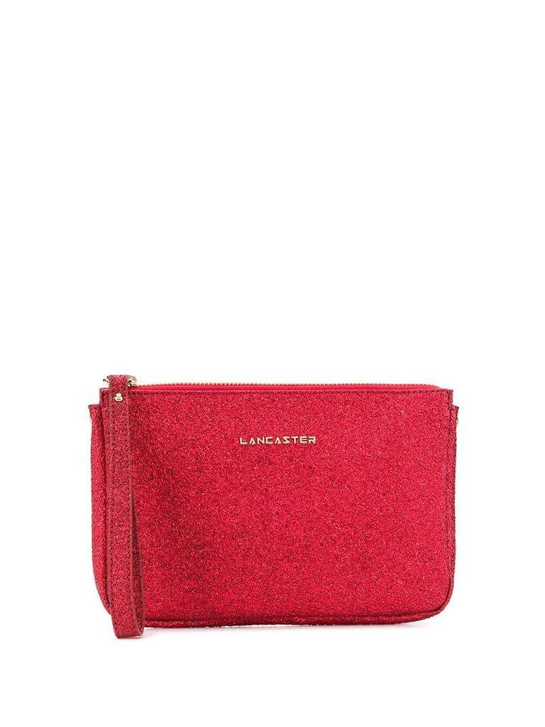 Lancaster glitter detail clutch - Red
