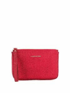 Lancaster glitter detail clutch - Red