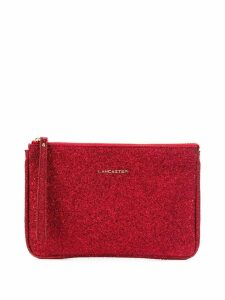 Lancaster glitter clutch bag - Red