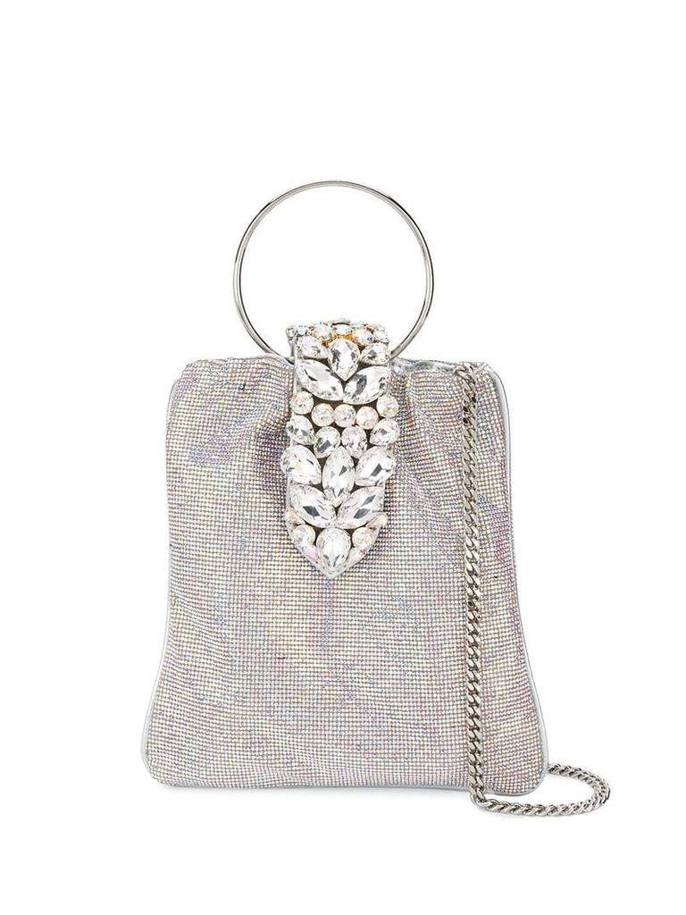 Gedebe crystal embellished tote - Silver