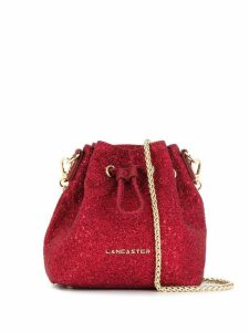 Lancaster glitter detail bucket bag - Red