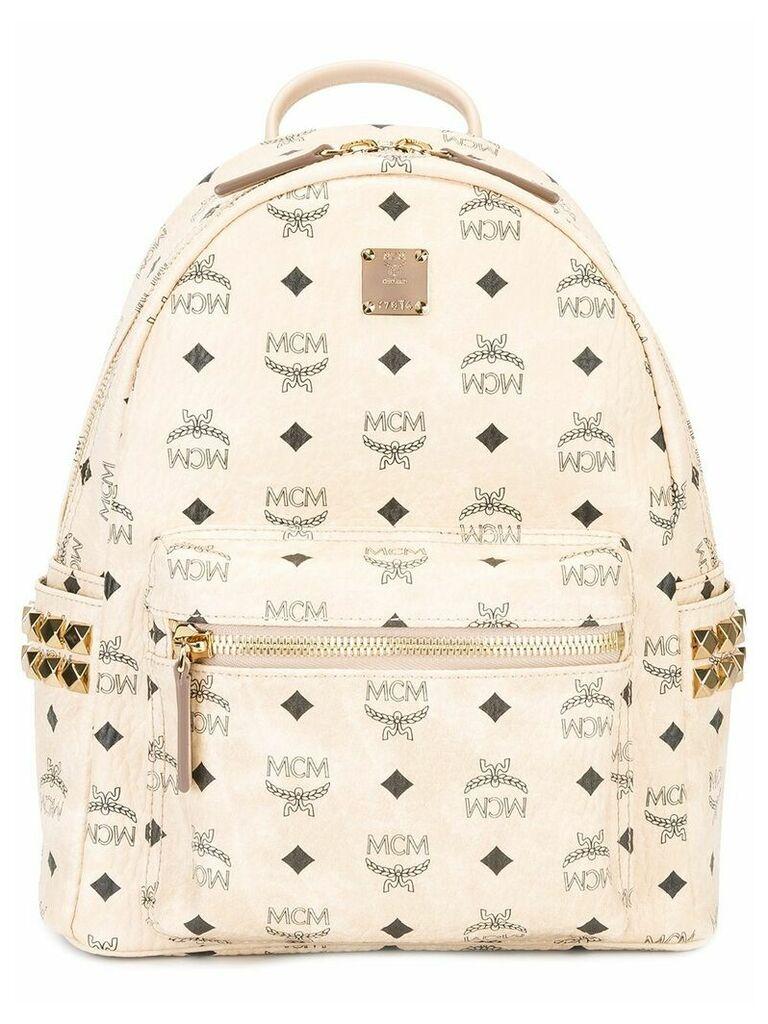 MCM logo print backpack - Neutrals