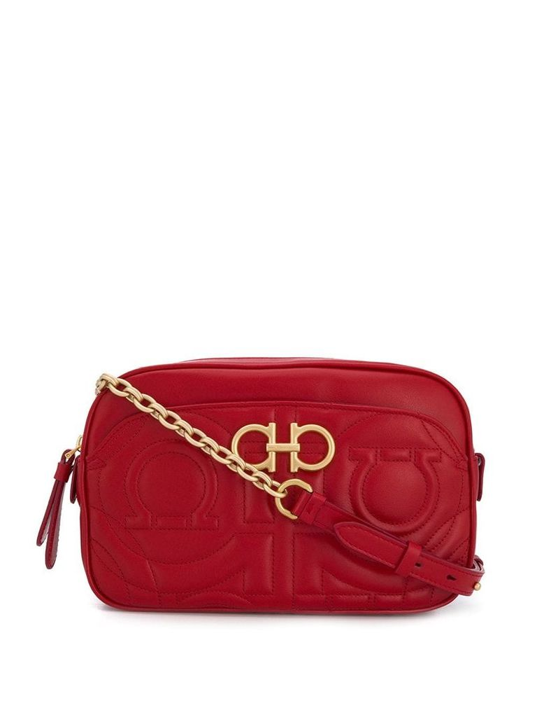 Salvatore Ferragamo quilted camera bag - Red