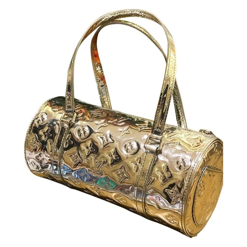 Papillon patent leather handbag