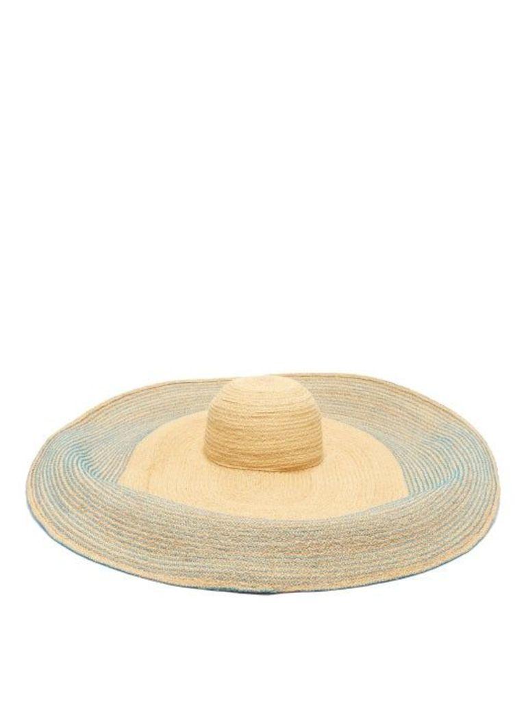 Lola Hats - Spinner Bis Raffia Hat - Womens - Blue