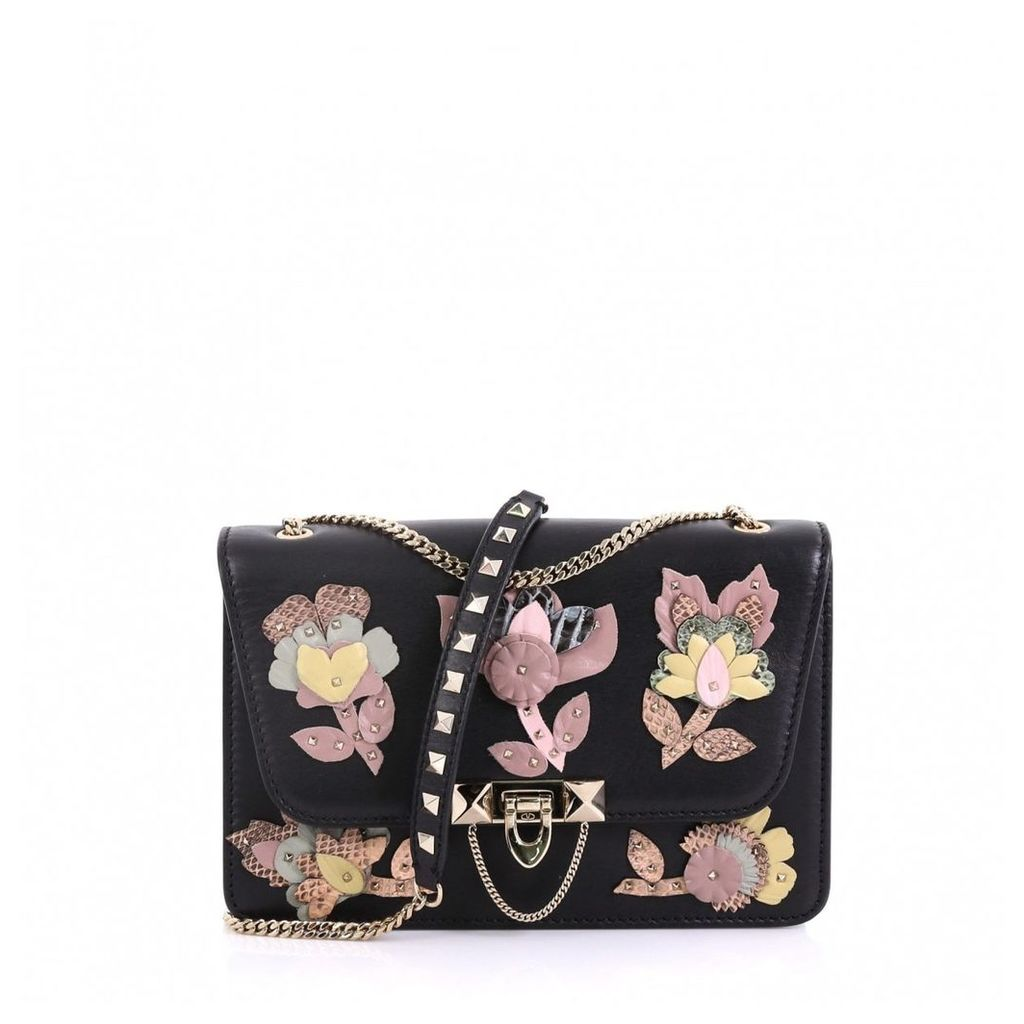 Demilune python handbag