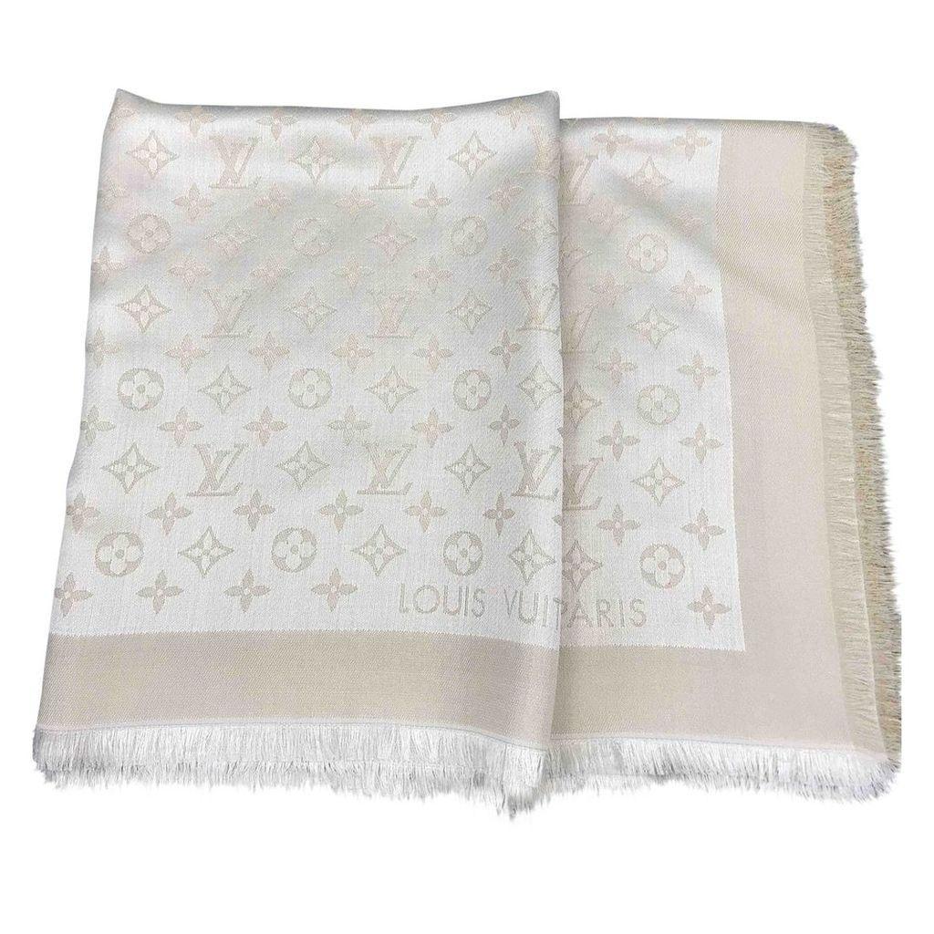 Châle Monogram shine silk scarf