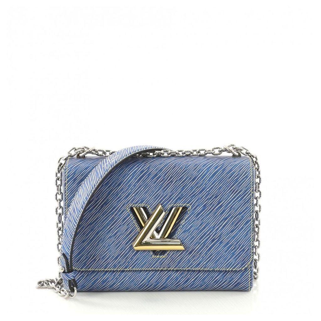 Twist leather handbag