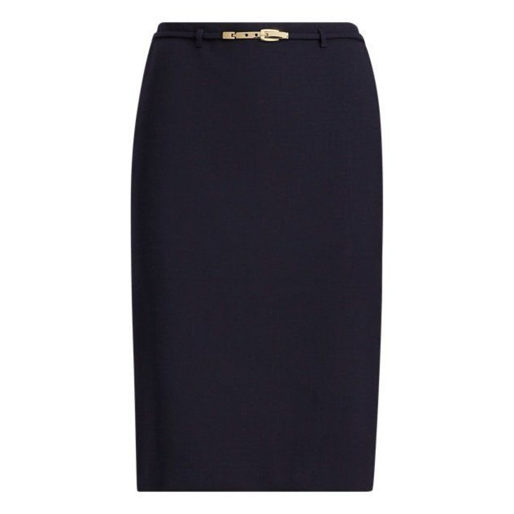 Bettie Wool-Silk Skirt
