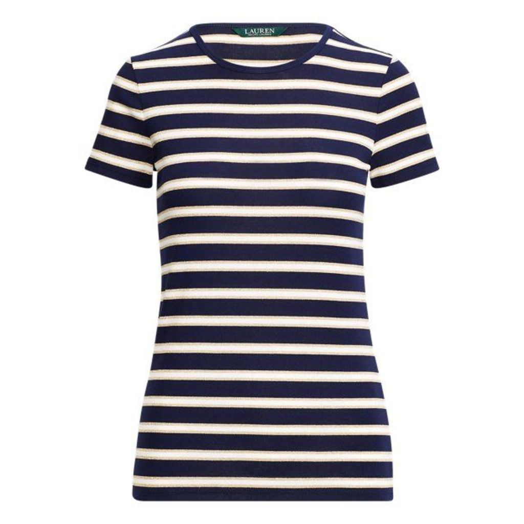 Striped Stretch Cotton T-Shirt