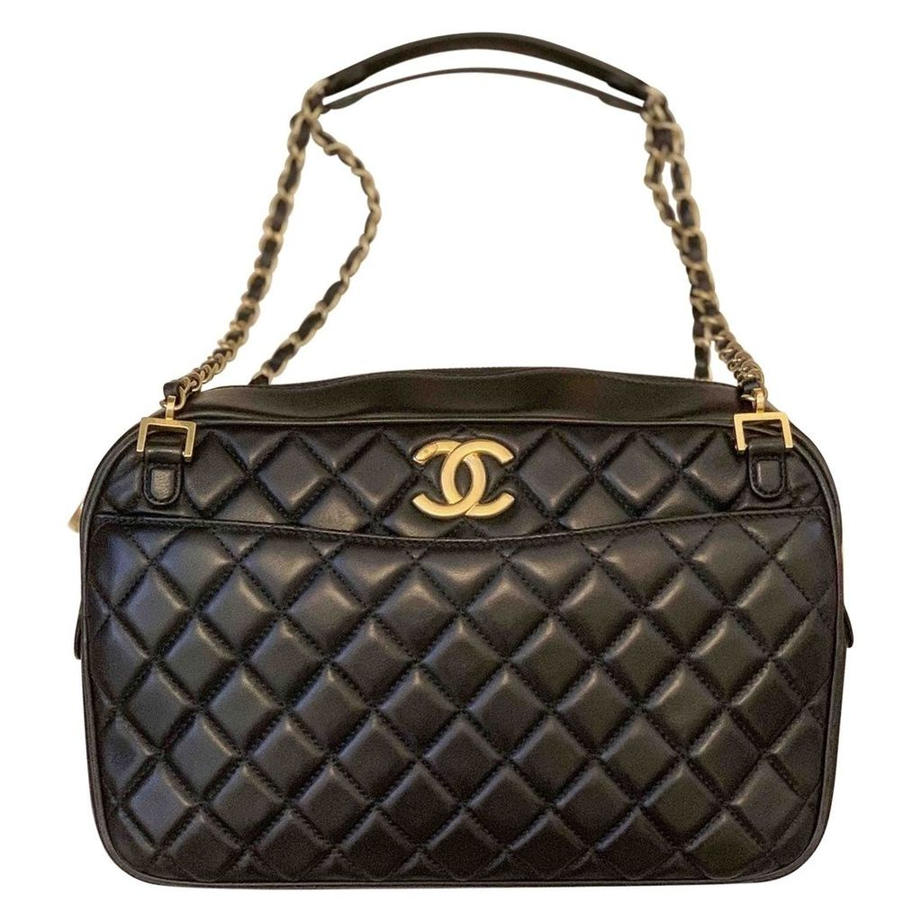 Camera leather handbag