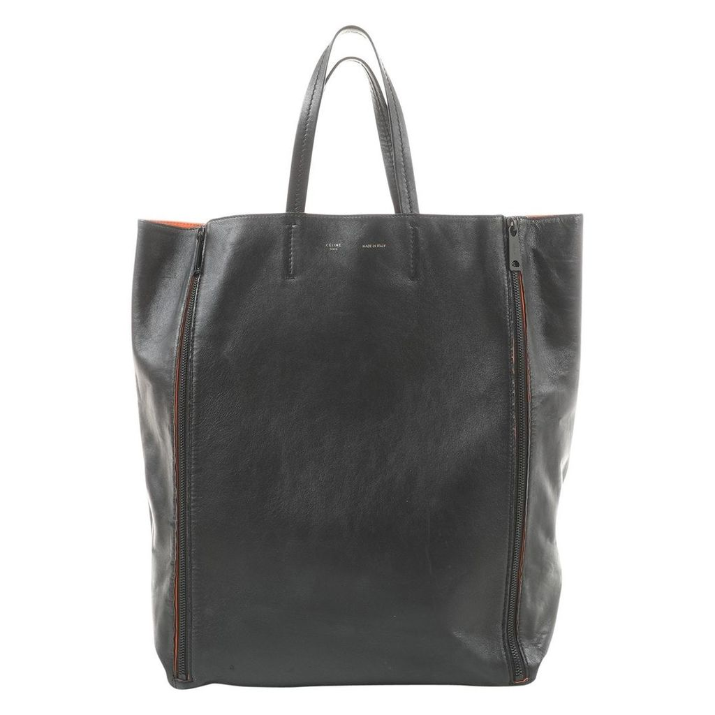 Cabas leather tote