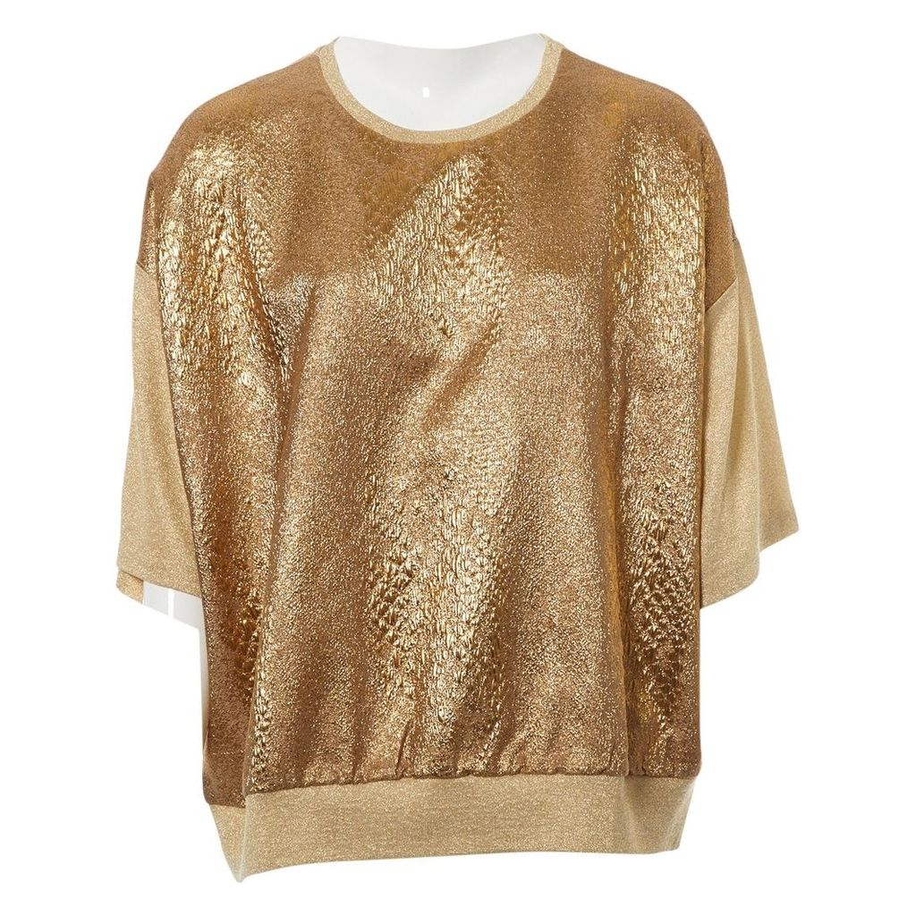 Gold Viscose Top