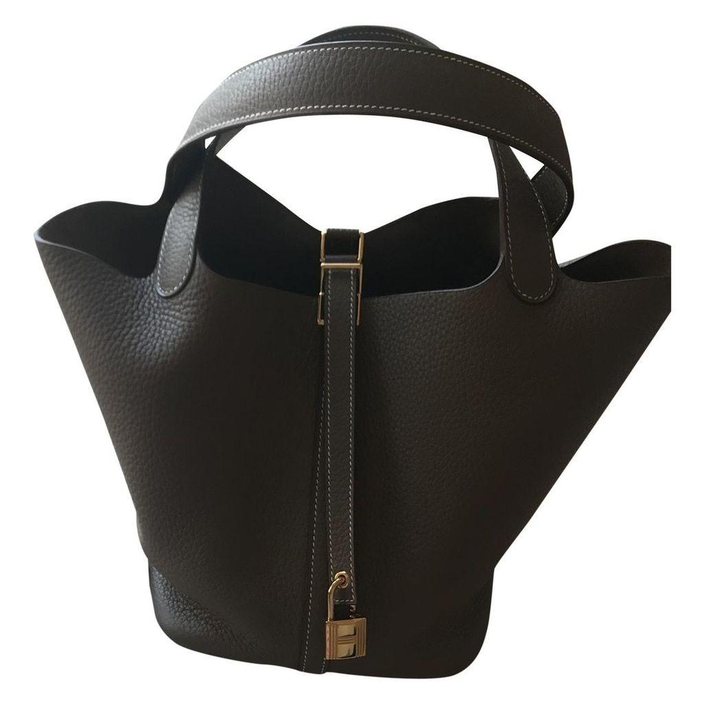 Picotin leather handbag