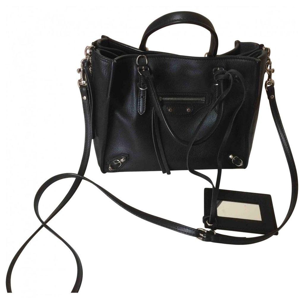 Papier leather handbag