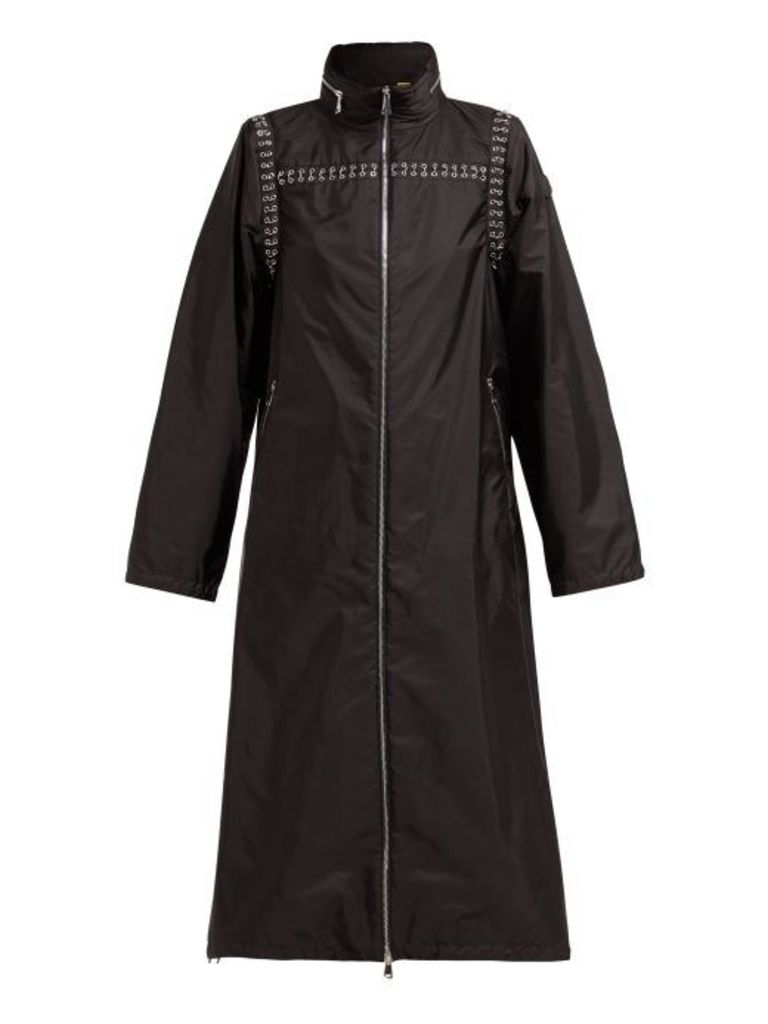 6 Moncler Noir Kei Ninomiya - Chain Seams Technical Parka - Womens - Black