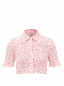 Valentino - Beaded Tiered Tulle Gown - Womens - Gold