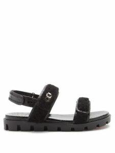 Pleats Please Issey Miyake - Pleated Trapeze Cut Midi Dress - Womens - Pink