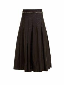 6 Moncler Noir Kei Ninomiya - Eyelet Chain Pleated Skirt - Womens - Black