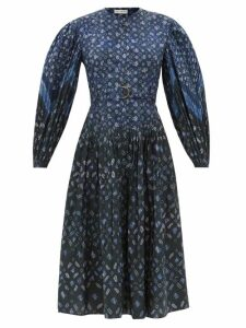 Etro - Cheshire Floral Print Silk Coat - Womens - Yellow Multi