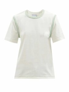 Roksanda - Isilda Ruched Cotton Poplin Midi Dress - Womens - Light Yellow