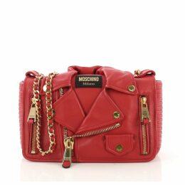 Biker leather handbag