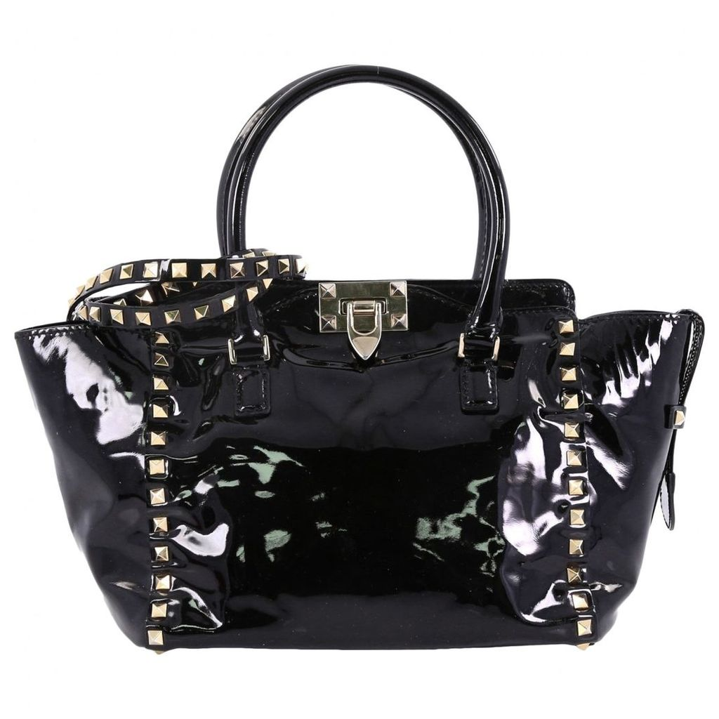Rockstud patent leather handbag