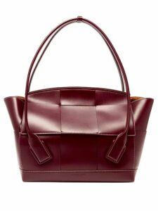 Bottega Veneta - Arco 56 Large Leather Bag - Womens - Burgundy