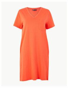 M&S Collection Pure Cotton Patch Pocket T-Shirt Dress