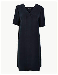 M&S Collection Crepe Knee Length Shift Dress