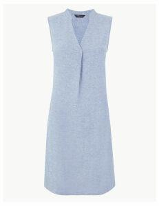 M&S Collection Linen Rich Shift Dress