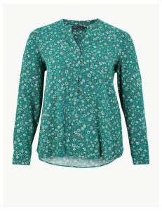 M&S Collection CURVE Floral Print Blouse